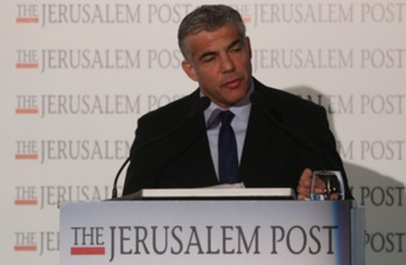 Finance Min. Yair Lapid at the JPost Diplomatic Conference37 (photo credit: Marc Israel Sellem/The Jerusalem Post)