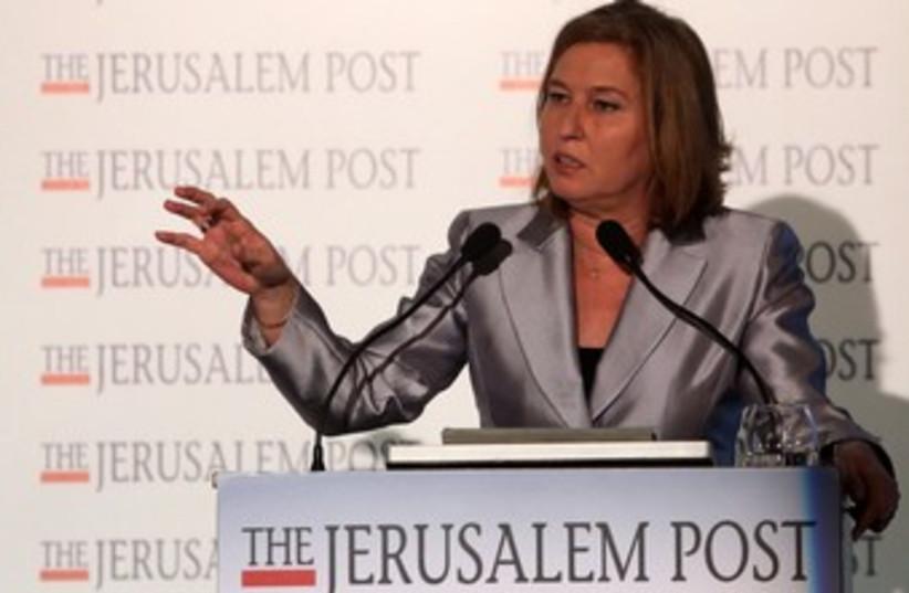 Justice Min. Tzip Livni at the JPost Diplomatic Conference (photo credit: Marc Israel Sellem/The Jerusalem Post)