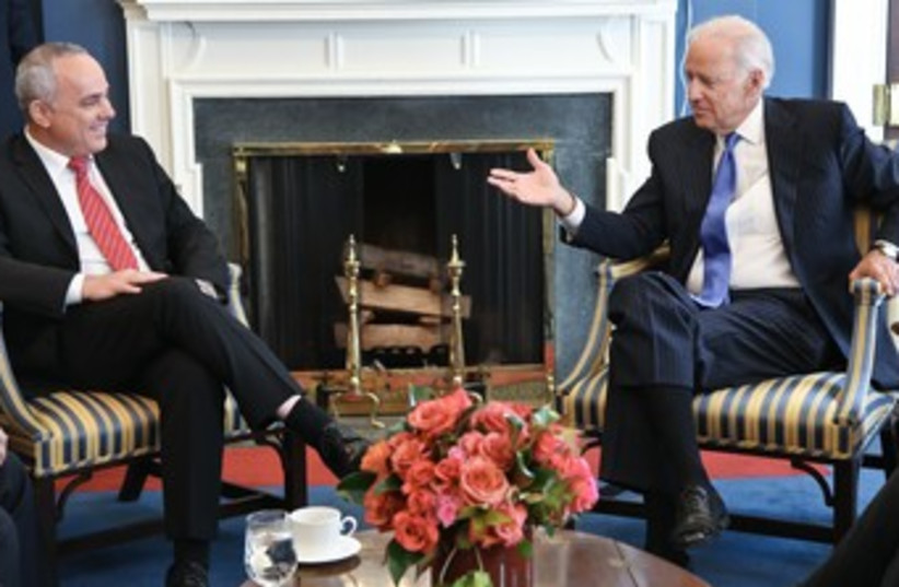 Yuval Steinitz meeting with Joe Biden 370 (photo credit: Shmulik Almani)