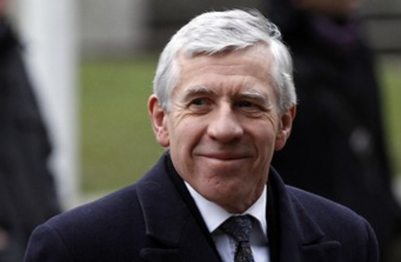 Britain's former foreign minister Jack Straw 370 (photo credit: REUTERS)