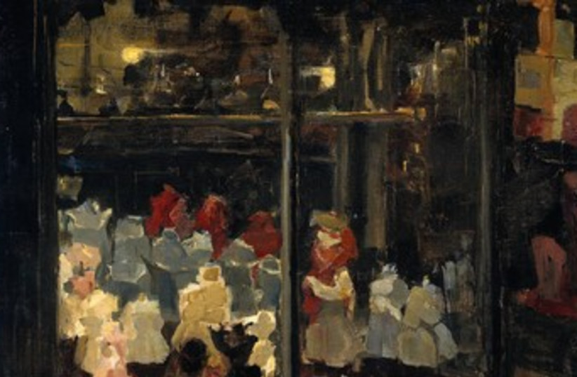 Shop Window by Isaac Israels 370 (photo credit: Wikimedia Commons)