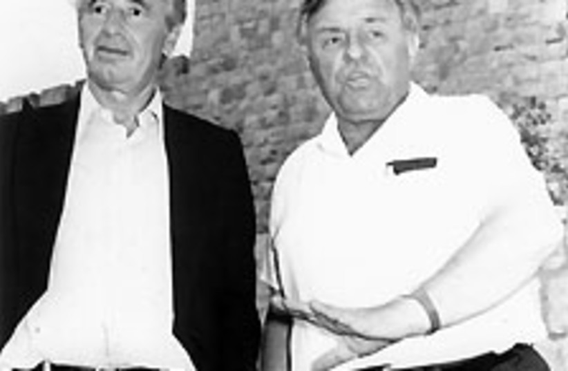Kollek Peres 88 224 (photo credit: Jerusalem Post Archives)