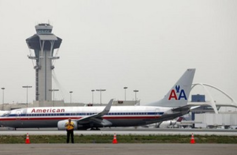 LAX airport Los Angeles 370 (photo credit: REUTERS)