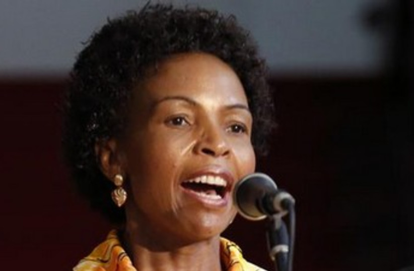 South Africa's Foreign Minister Maite Nkoana-Mashabane (photo credit: Reuters)