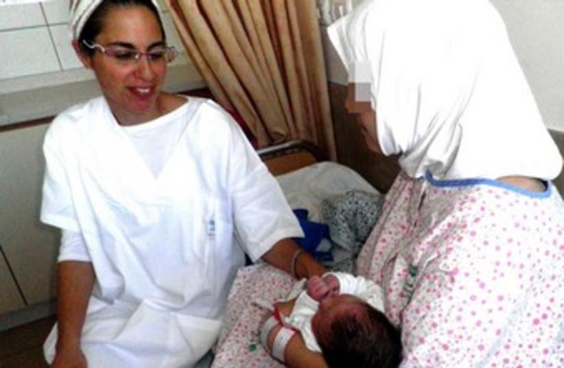 Syrian baby born in Israel hospital 370 (photo credit: Hannah Bickel)