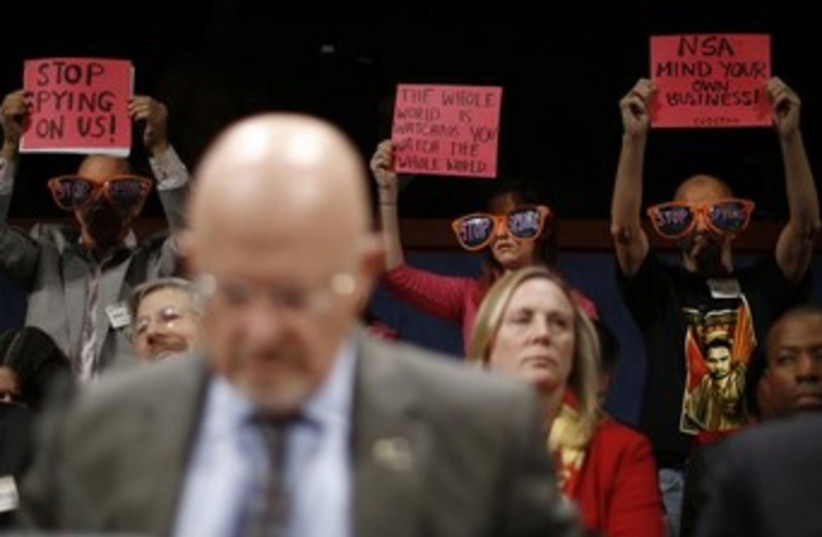 US spying protest 370 (photo credit: Reuters)