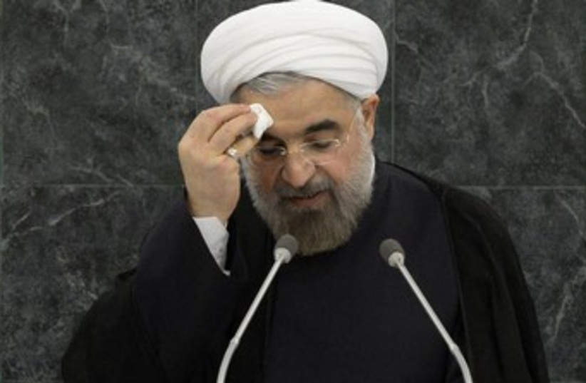 Iranian President Rouhani at the UN 370 (photo credit: REUTERS/Brendan McDermid)