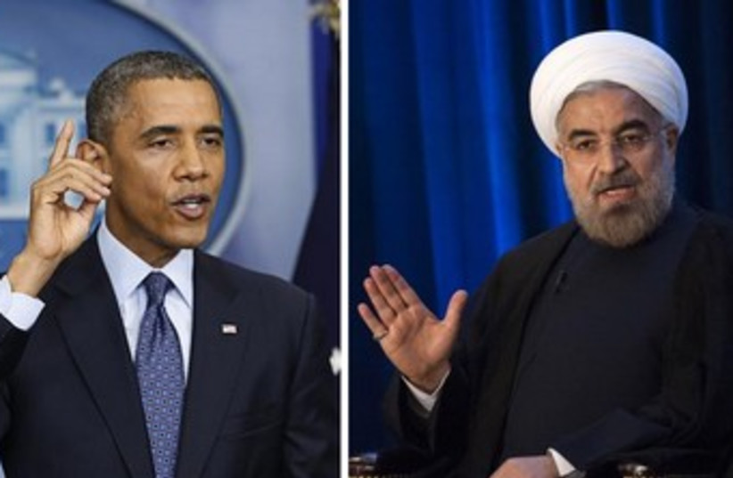 Obama and Rouhani 370 (photo credit: REUTERS)