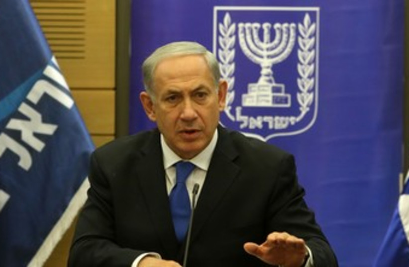 Netanyahu at Likud meeting 370 (photo credit: Marc Israel Sellem/The Jerusalem Post)