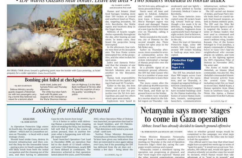 Jerusalem Post Daily Newspaper (photo credit: JPOST STAFF)