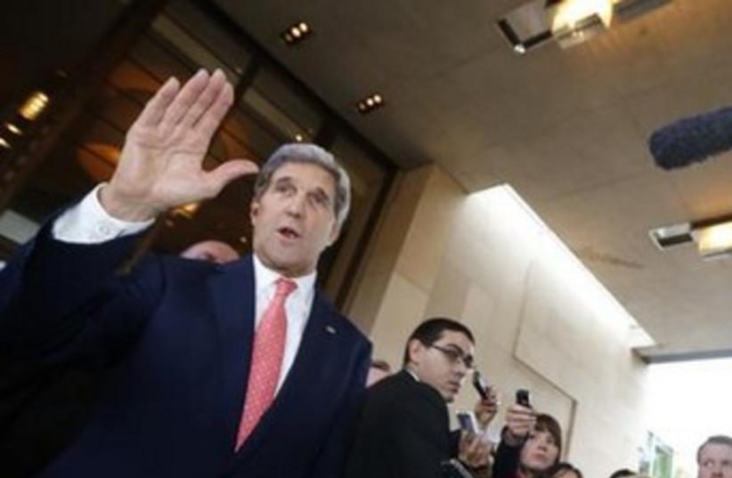 John Kerry in Geneva (photo credit: Reuters)