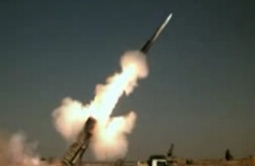 Iran anti-rocket missile (photo credit: YouTube screenshot)
