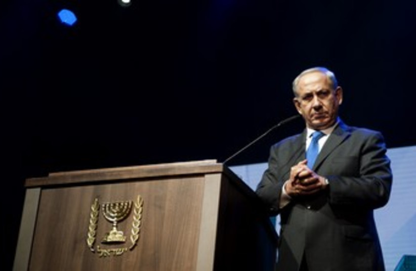 Netanyahu at Jewish Federations GA 4 370 (photo credit: Hadas Parush)