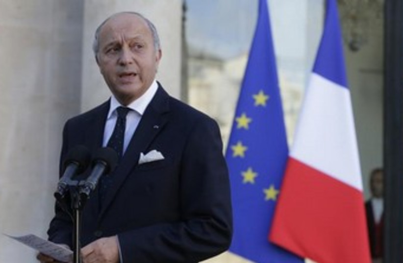 French FM Laurent Fabius 370 (photo credit: REUTERS)