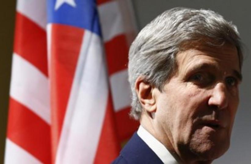 John Kerry in Geneva 370 (photo credit:  REUTERS/Denis Balibouse )
