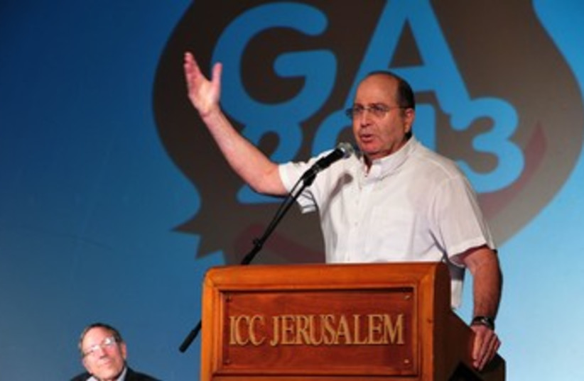 Ya'alon at General Assembly 370 (photo credit: Ariel Hermoni, Defense Ministry)