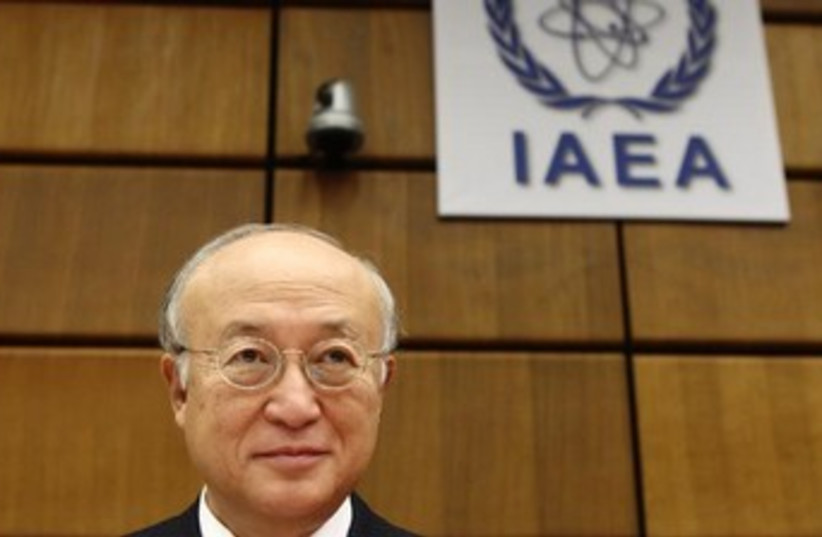 IAEA Director General Yukiya Amano 370 (photo credit: REUTERS/Heinz-Peter Bader)