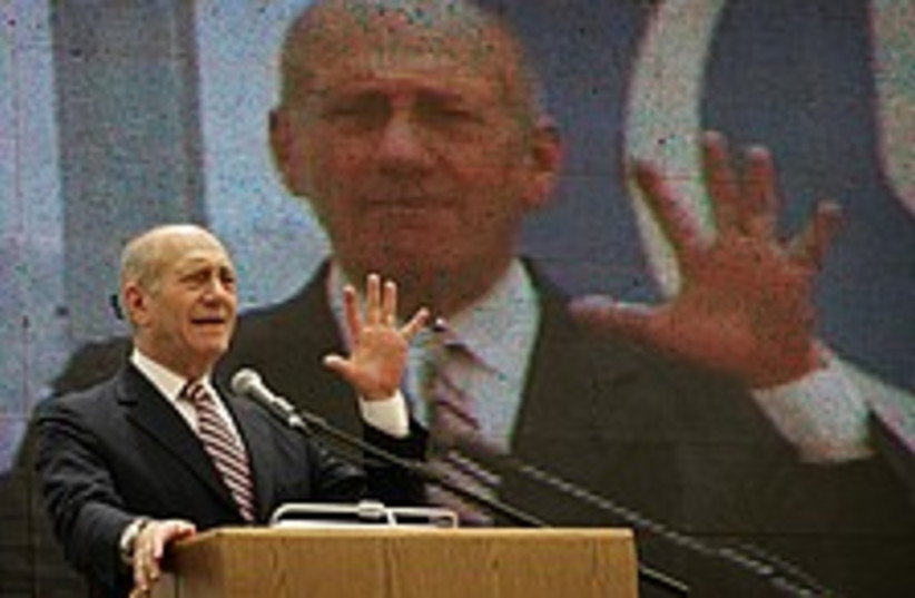 Olmert times two 224.88 (photo credit: AP)