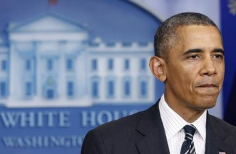 Obama White House Briefing Room 370 (photo credit: REUTERS/Kevin Lamarque)