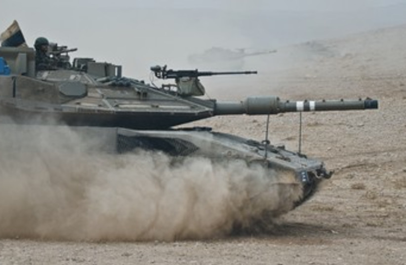 A tank from the 52nd Armored Battalion 370 (photo credit: IDF Spokesman's Office)