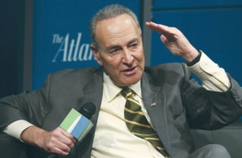 Senator Charles Schumer (D-NY) 370 (photo credit: REUTERS)