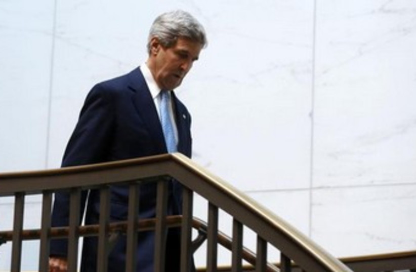 US Secretary of State John Kerry on Capitol Hill 370 (photo credit: REUTERS)