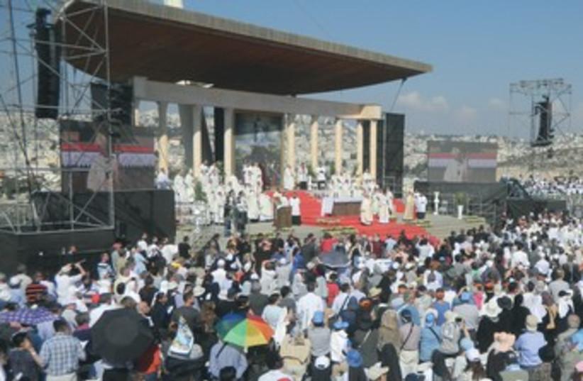 Catholic day of faith in nazareth (photo credit: Henry Rome)