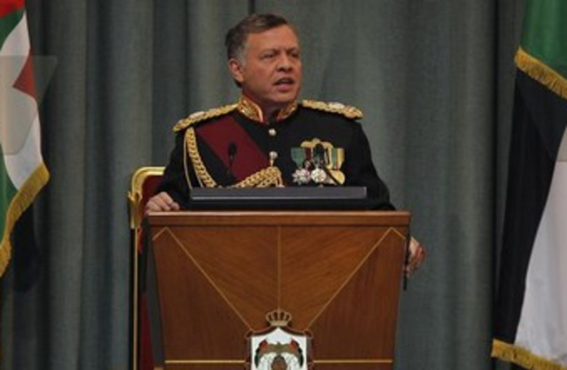 Jordan's King Abdullah 370 (photo credit: REUTERS)