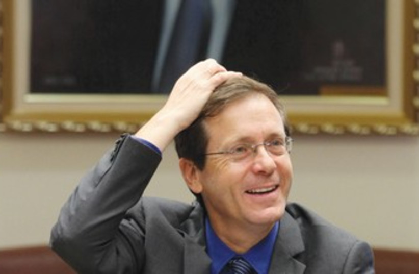 MK Isaac Herzog 370 (photo credit: Marc Israel Sellem/The Jerusalem Post)