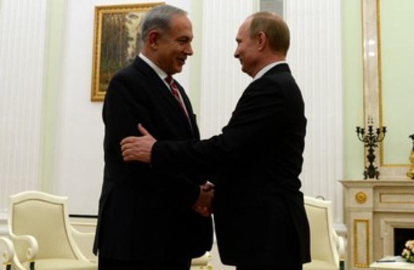 Prime Minister Netanyahu and Russian Pres. Putin 370 (photo credit: Koby Gideon/GPO)