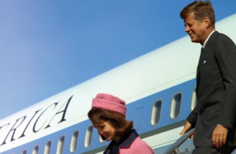 US President John Kennedy and his wife in Dallas 370 (photo credit: REUTERS)