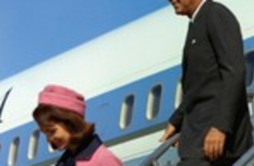 US President John Kennedy and his wife in Dallas 150 (photo credit: REUTERS)
