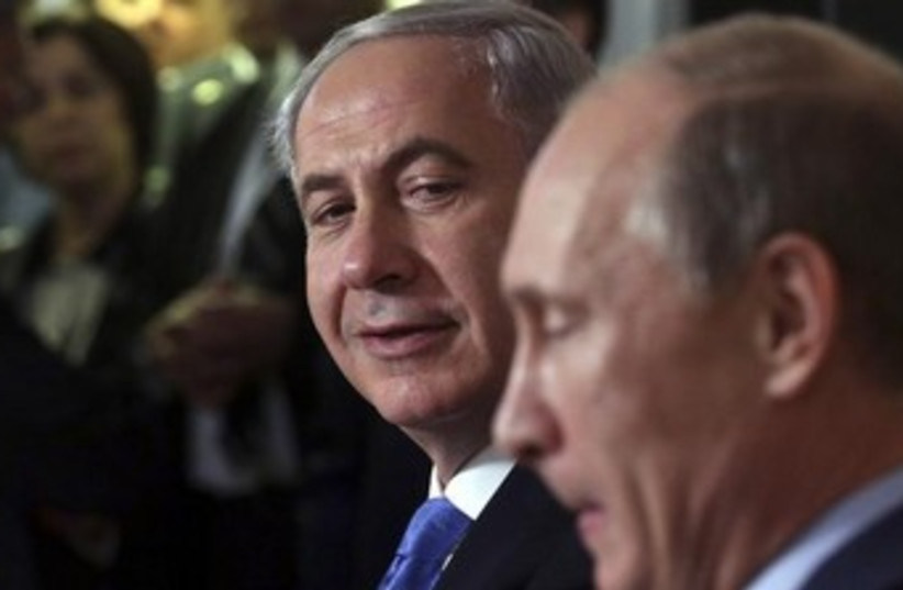 Putin, Netanyahu (photo credit: Reuters)