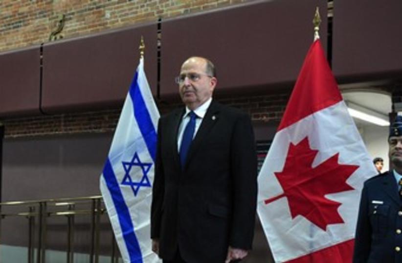 Ya'alon in Canada 370 (photo credit: Ariel Hermoni, Defense Ministry)