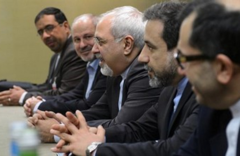 Iranian nuclear negotiators delegation 370 (photo credit: REUTERS/Fabrice Coffrini/Pool )