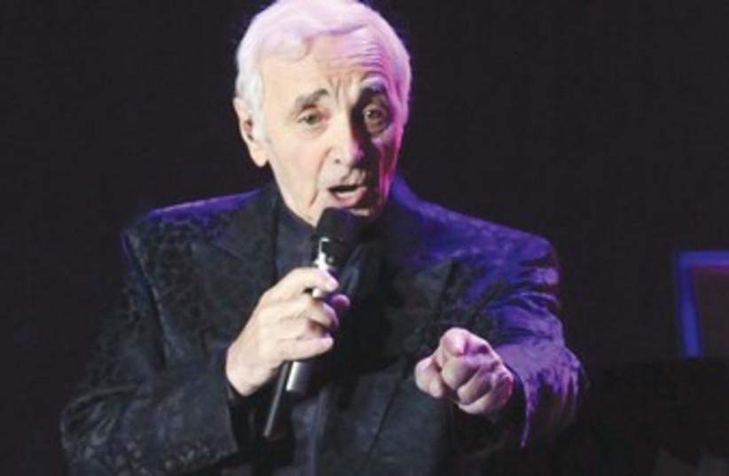 Charles Aznavour 370 (photo credit: Sivan Farag)