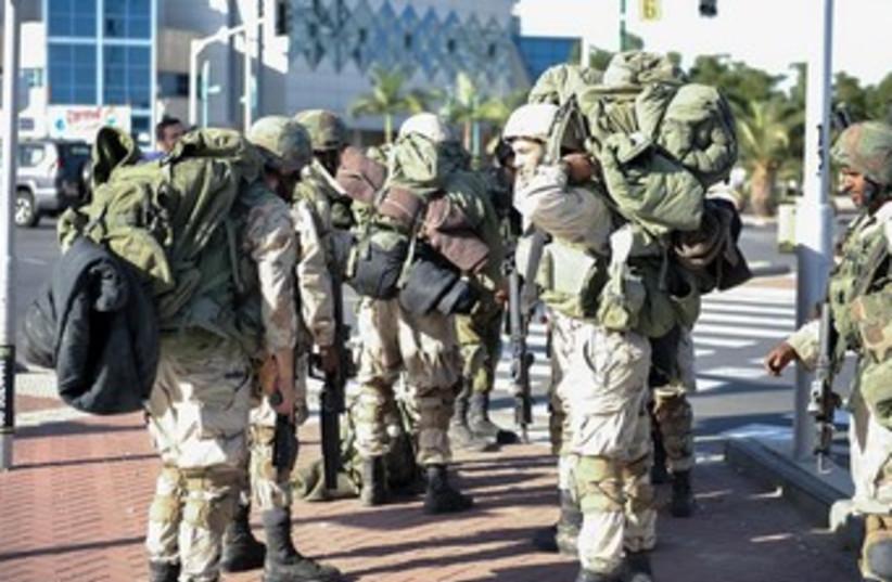 Gaza Division drill Nov 2013 370 (photo credit: IDF Spokesman)