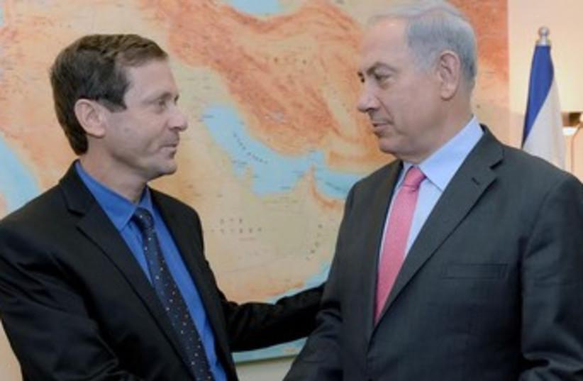 Herzog Netanyahu Bibi 370 (photo credit: Koby Gideon/GPO)