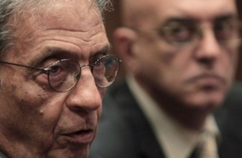 Egypt consitutional panel head Amr Moussa 370 (photo credit: REUTERS/Mohamed Abd El-Ghany)