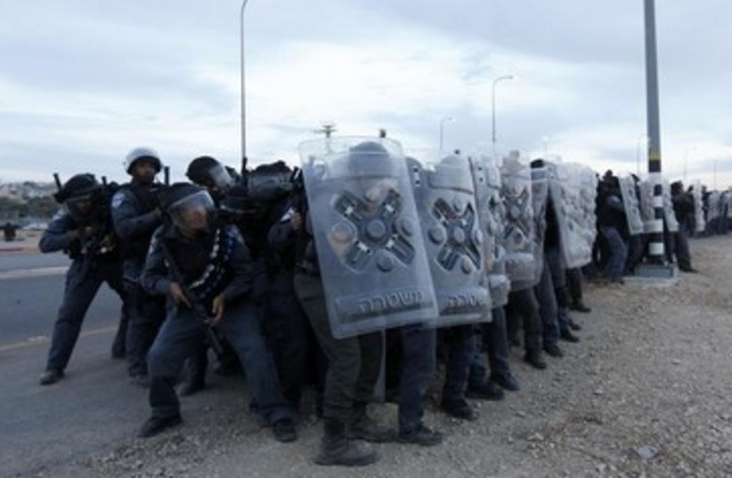 Protests against the Prawer plan, November 30, 2013.