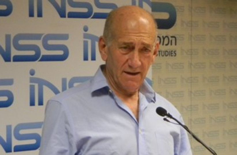 Ehud Olmert 370 (photo credit: Courtesy INSS)