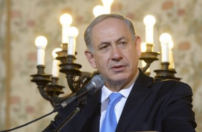 Netanyahu in Rome looking matter-of-fact 370 (photo credit: Amos Ben-Gershom/GPO)