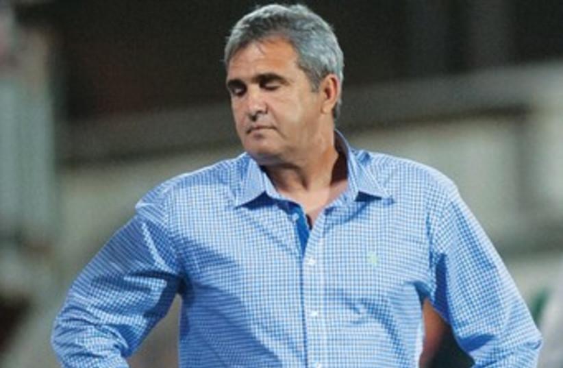 Beitar Jerusalem coach Eli Cohen is fired by owner Eli Tabib (photo credit: Asaf Kliger)