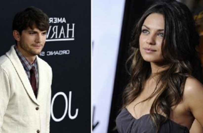 Mila Kunis and Ashton Kutcher (photo credit: Reuters)