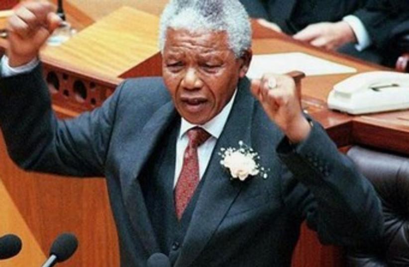 Nelson Mandela addresses parliament in Cape Town, 370 (photo credit: REUTERS)