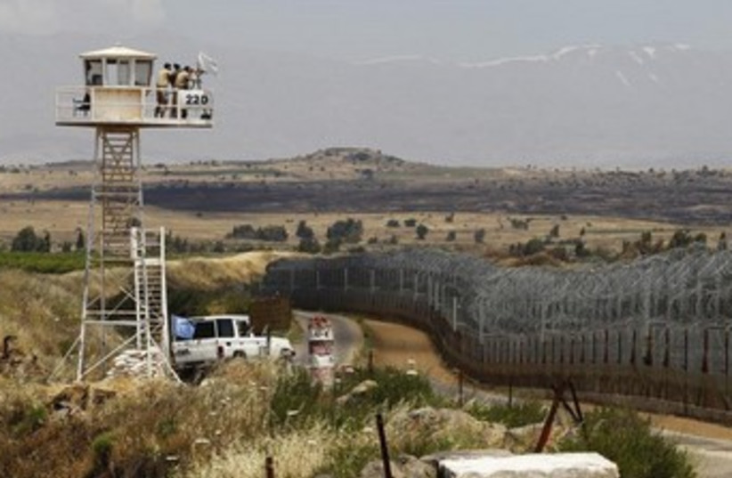 Quneitra border crossing between Israel and Syria 370 (photo credit: REUTERS)