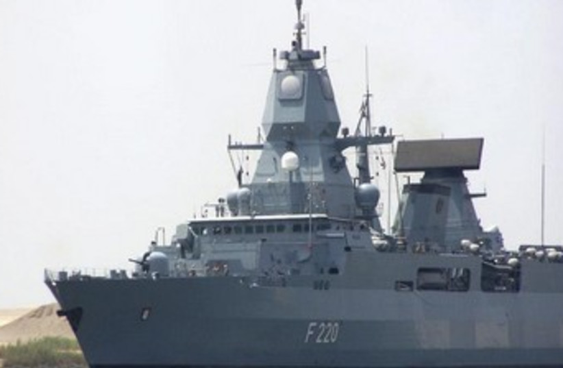 German Navy destroyer 370 (photo credit: Reuters)