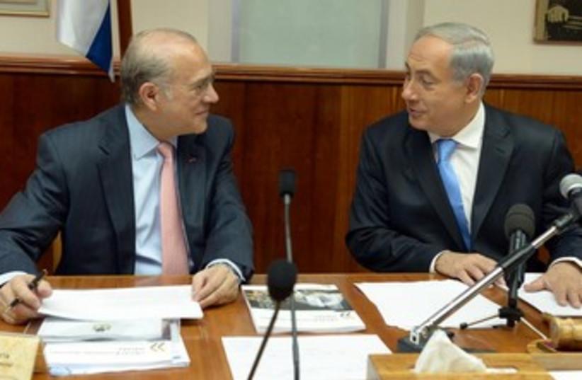 Netanyahu meeting with OECD Sec-Gen Anjel Gurria 370 (photo credit: Haim Tzah/GPO)