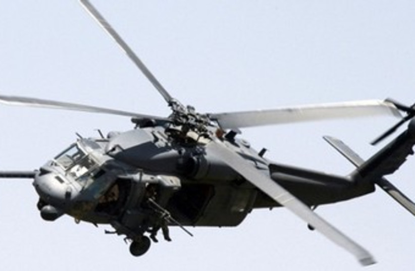 A Black Hawk helicopter 370 (photo credit: Reuters)