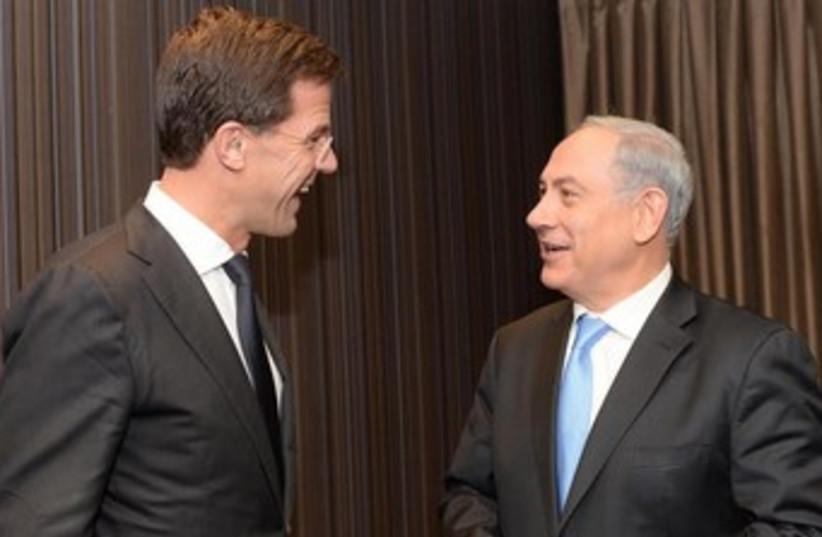 Netanyahu meeting Dutch PM Mark Rutte 370 (photo credit: GPO / Kobi Gideon)